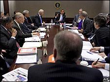 Reunión de seguridad de la Casa Blanca