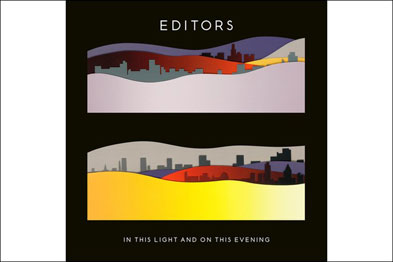 Álbum In This Light And On This Evening, da banda Editors - Arte de capa de Lijn. Desenho e direção de arte de Tom Hingston Studio