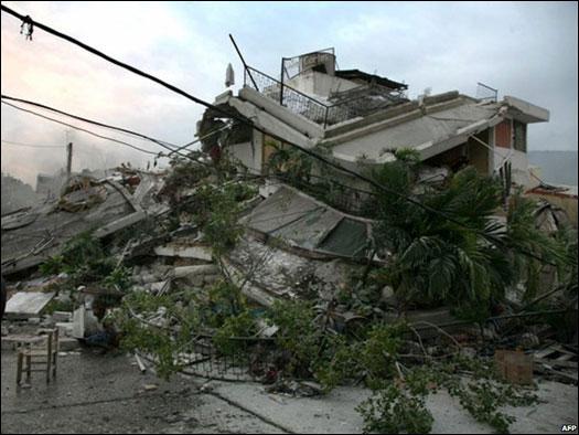 di ibukota Port-au-Prince akibat gempa berkekuatan skala 7,3 Richter