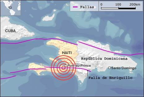 Las fallas geológicas de Haití
