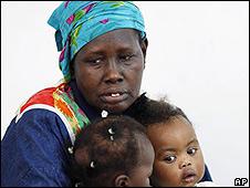 Una mujer refugiada de Sudán.