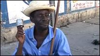 Bell Michell, ciego que pide limosnas en Puerto Príncipe