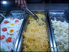 Rellenos para arepa en comercio de Venezuela