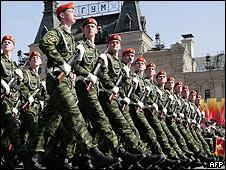 Краповые береты на Красной площади