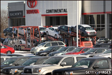 Toyota vehicles are delivered back to the factory