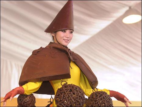 الشوكولاتة تتخذ اشكالا متنوعة .....