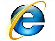 Logo del Internet Explorer 6 de Microsoft