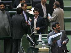 محمود احمدی نژاد در مجلس ایران