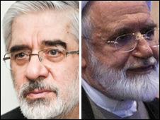 مهدی گروبی و میر حسین موسوی
