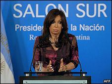 Cristina Fernández, presidenta de Paraguay