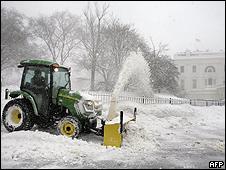 Nieve en Washington, Estados Unidos