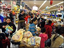Gente comprando en Maryland