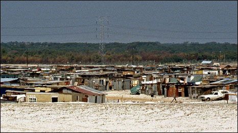 The black township if Cross Road in Cape Town, South Africa, 1994