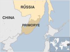 Mapa de Primorye