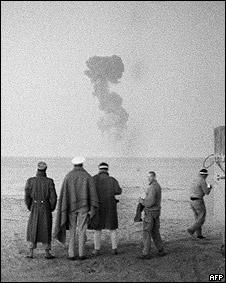 Pruebas nucleares francesas en Argelia en 1960