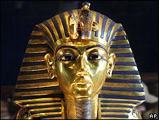 Máscara de oro de Tutankamón.