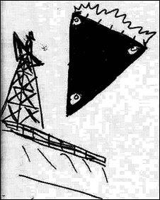 Desenho em documento liberado pelo Ministério da Defesa da Grã-Bretanha