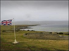 Bandera Británica en las Malvinas/Falklands