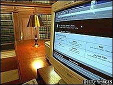 Biblioteca y computadora