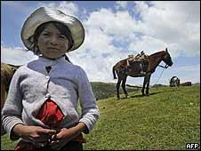 Una niña indígena ecuatoriana
