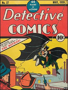 Capa da revista onde super-herói Batman apareceu pela primeira vez