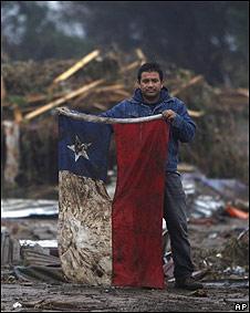 Damnificado tras terremoto en Chile