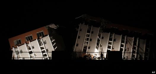 Edificio derrumbado en Concepción tras terremoto en Chile