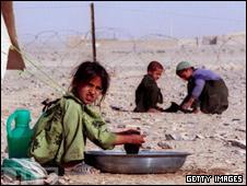 مهاجران افغان در اردوگاه پناهنجویان