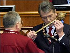 Ющенко під час інавгурації (архівне фото)