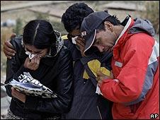 Damnificados por el terremoto en Chile