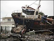 Las secuelas del tsunami de Chile en Talcahuano
