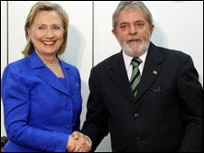 الرئيس البرازيلي ووزيرة الخارجية الامريكية