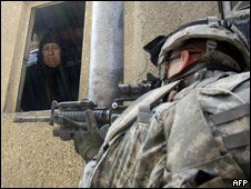 Soldado de EE.UU. en Irak