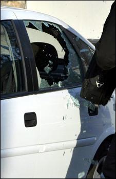 سيارة تعرضت للسرقة
