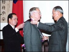 李登輝頒發勛章