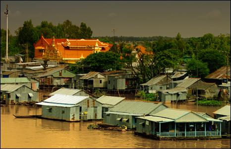 Sông Mekong đoạn chảy qua tỉnh An Giang của Việt Nam