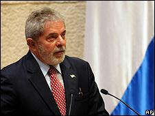 Lula durante visita a Israel