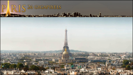 Vista panorâmica de Paris (© Kolor - Arnaud Frich - Martin Loyer)