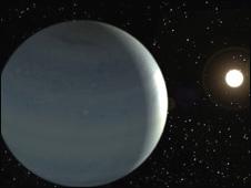Dibujo del exoplaneta (Imagen del Instituto de Astrofísica de Canarias)