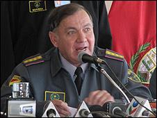 Ramiro de la Fuente, comandante en jefe de las fuerzas militares bolivianas.
