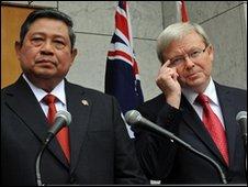Hai ông Yudhoyono và Kevin Rudd