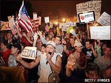 Protesta de opositores en Washington
