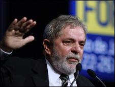 O presidente Luiz Inácio Lula da Silva durante discurso de abertura do Fórum Urbano nesta segunda-feira