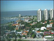 Panorámica de Montevideo.