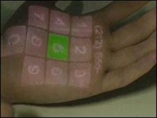 جهاز طبي على الجلد
