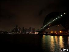 Baía de Sydney na Hora do Planeta
