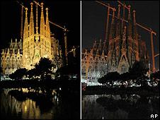 Iglesia de la Sagrada Familia en Barcelona