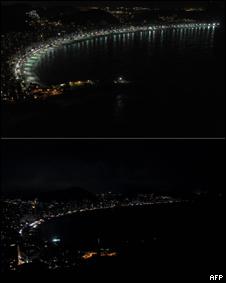 """Río de Janeiro en la """"Hora del Planeta"""""""