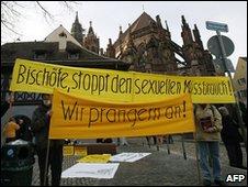 Manifestación de protesta en la ciudad de Friburgo, al sur de Alemania, el 22 de febrero
