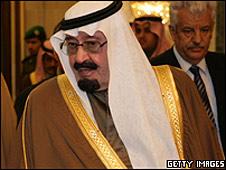 El monarca saudita.